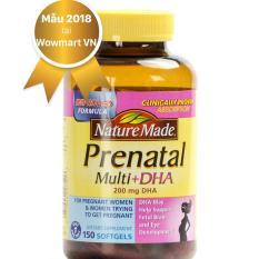 Thuốc Vitamin và DHA cho bà bầu Nature Made Prenatal Multi DHA 200mg 150 viên MỸ