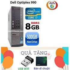 Đồng Bộ Dell Optiplex 990 Core i7 2600 / 8G / 500G – Tặng USB Wifi , Bàn di chuột , Bảo hành 24 tháng