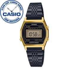 Đồng hồ nữ dây thép không gỉ Casio Standard Anh Khuê LA690WGB-1DF