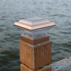 Đèn trụ hàng rào năng lượng mặt trời new