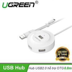 Hub USB 2.0 4 cổng chip Terminus FE1.1 hỗ trợ OTG dài 80CM UGREEN CR106 – 20271