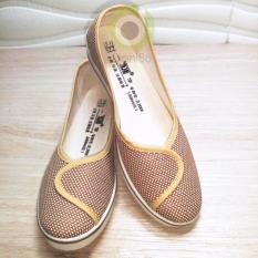 Giày búp bê công sở đế xuồng cao 4cm chất liệu vải giá rẻ – 99
