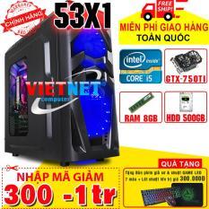 Máy tính chơi game VNgame 53X1 i5 3470 GTX750Ti RAM 8GB 500GB (chuyên LOL, GTA 5, PUBG, Overwatch, Fifa)