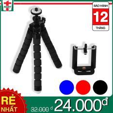 Combo Giá đỡ 3 chân đa năng ( tripod mini ) và Đầu kẹp điện thoại dùng cho máy ảnh hoặc điện thoại