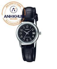 Đồng hồ nữ dây da Casio Anh Khuê LTP-V002L-1BUDF