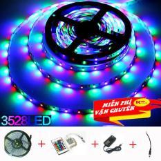 Cuộn đèn Led dây dán 5m đổi nhiều màu (RGB) có remote điều khiển, nguồn, đuôi chuột