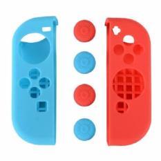 Ốp Silicon + 4 núm bảo vệ Tay cầm Joycon Nintendo Switch