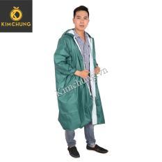Áo mưa dây kéo Nam – Áo mưa vải dù cao cấp (Xanh rêu)