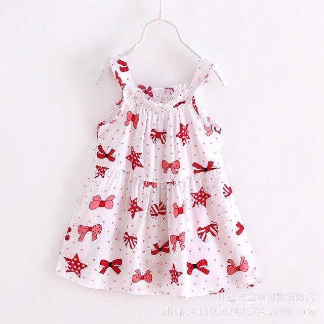 Váy 2 dây cho bé gái