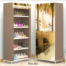 Tủ giày dép 5 ngăn tự lắp đặt+tặng móc dính tường