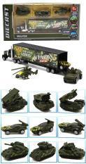 Xe mô hình sắt container chở 3 xe vũ khí