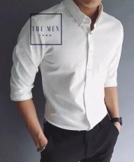 Áo sơ mi nam ( Trắng cúc trắng dài tay ) thương hiệu đẳng cấp ( THE MEN1989)