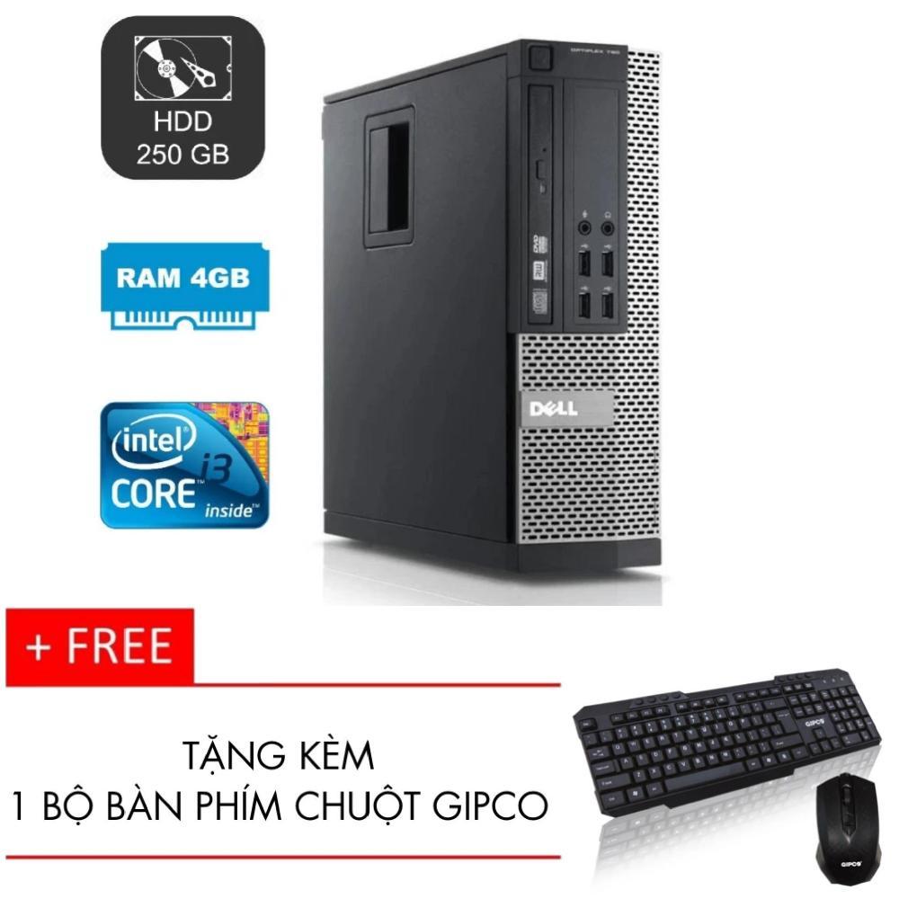 Máy tính đồng bộ Dell Optiplex 990 core i3 RAM 4GB HDD 250GB + Tặng kèm bộ bàn phím chuột...