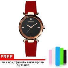 Đồng hồ nữ SANDA JAPAN SA218 – Dây da lộn cao cấp + Tặng hộp, pin dự phòng