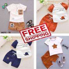 Combo 4 bộ quần áo trẻ em cộc tay