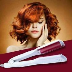 Máy bấm tóc uốn gợn sóng giúp bạn tự làm tóc đẹp với dụng cụ làm tóc cầm tay
