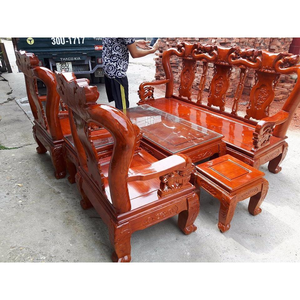 Bộ bàn ghế minh quốc đào gỗ xoan ta Tay 10 và Tay 12