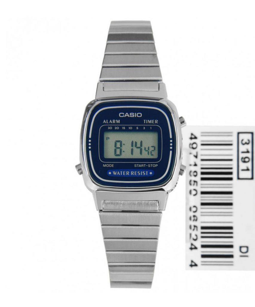 Đồng Hồ Casio La670 Silver