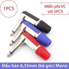 Đầu hàn dây cáp 6,35/6,5mm Mono vuông góc (loại đơn giản)