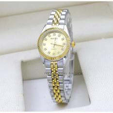 Đồng hồ nữ dây thép màu vàng chống nước HALEI HA356