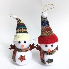 Combo 2 người tuyết cao 19cm trang trí Giáng sinh – Noel