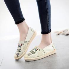 [Giá Sốc] Giày Lười, Slip-On, Tom Nữ Vải In Họa Tiết Dễ Thương 3Fashion Shop – 3147