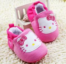 Giày tập đi cho bé gái Kitty cổ chun – GTD16