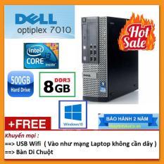 Máy tính đồng bộ Dell Optiplex 7010 Intel Core i3 2100 3.10GHz, Ram 8GB, HDD 500GB + Tặng chuột không dây + bàn di – Hàng nhập khẩu.