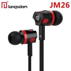 Tai nghe nhét tai earphone Langsdom JM26 Super Bass (Đen pha đỏ)
