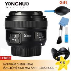 Ống Kính Yongnuo 50 F1.8 For Nikon (Tặng bộ vệ sinh máy ảnh + lens hood)
