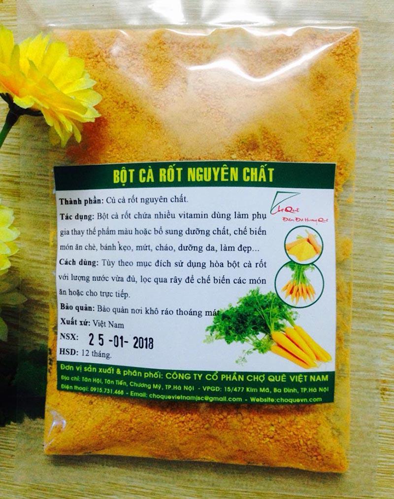 Bột cà rốt nguyên chất 100g