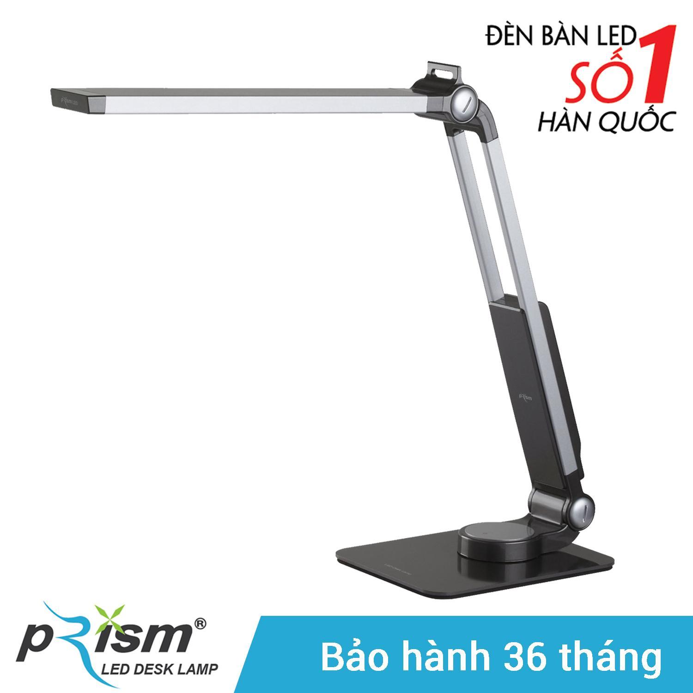Đèn bàn LED PRISM Hàn Quốc 4300B công tắc cảm ứng 9.5W sáng trắng chống cận bảo vệ mắt (Đen)