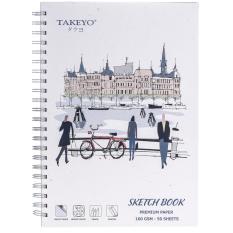 SỔ VẼ TAKEYO B5 8523 (50 TỜ, 17.6 x 25 CM)