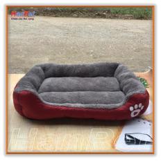 Nệm ngủ hình chữ nhật có thành, thảm ngủ ấm áp cho CHÓ MÈO (3 size S,M,L Hanpet nem CN3SIZ) nhà nệm chó / nhà chó mèo / thảm chó / nệm mèo / ổ chó / ổ mèo