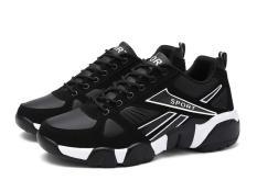 Giày thể thao nam đa năng BAZAS SDM68989WB màu đen, Cổ giày có lót mút, đế giày cao 3cm, thiết kế chống trơn trượt