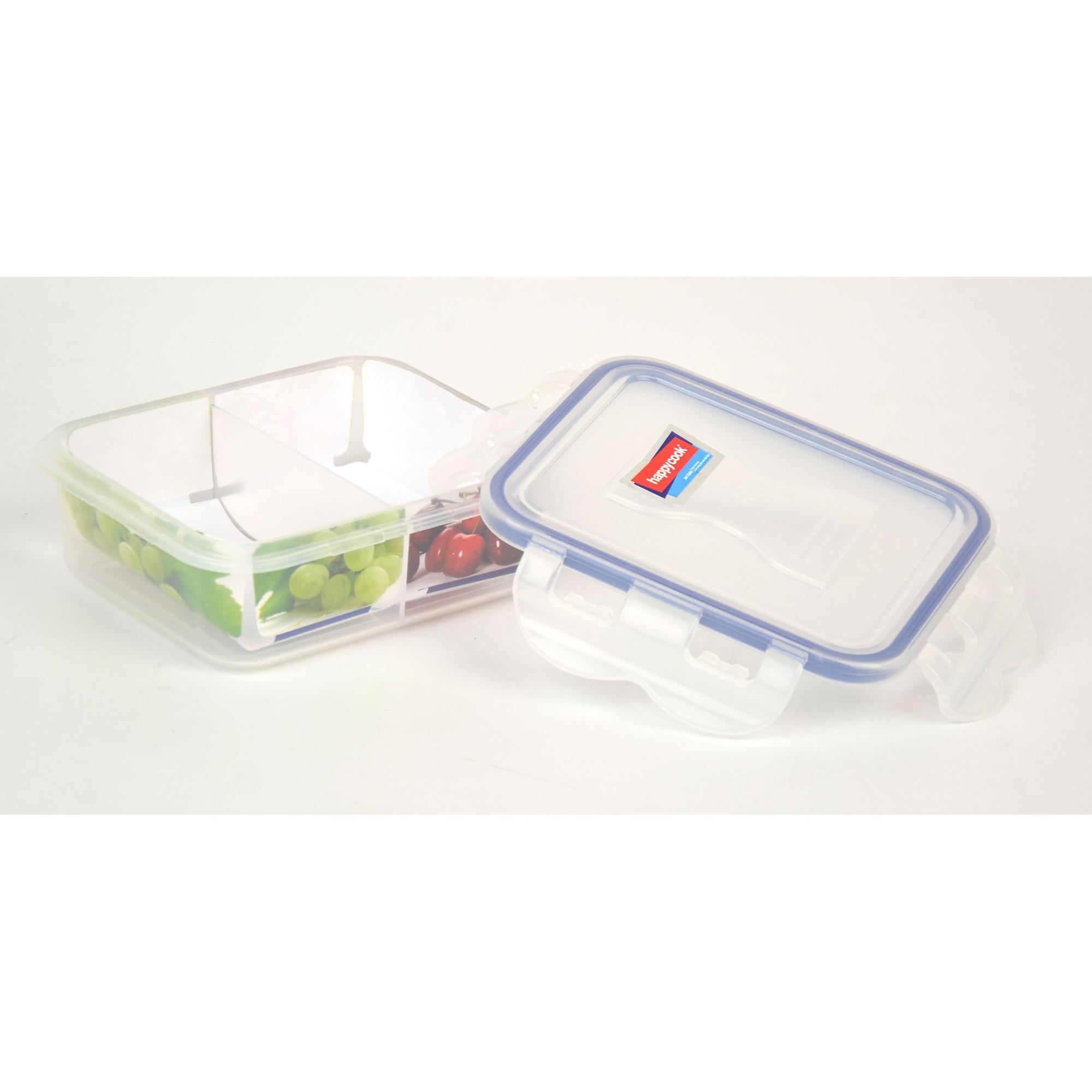 Hộp nhựa đựng thực phẩm 2 ngăn 450ml Happy Cook Plastic Box HCPB-045RV