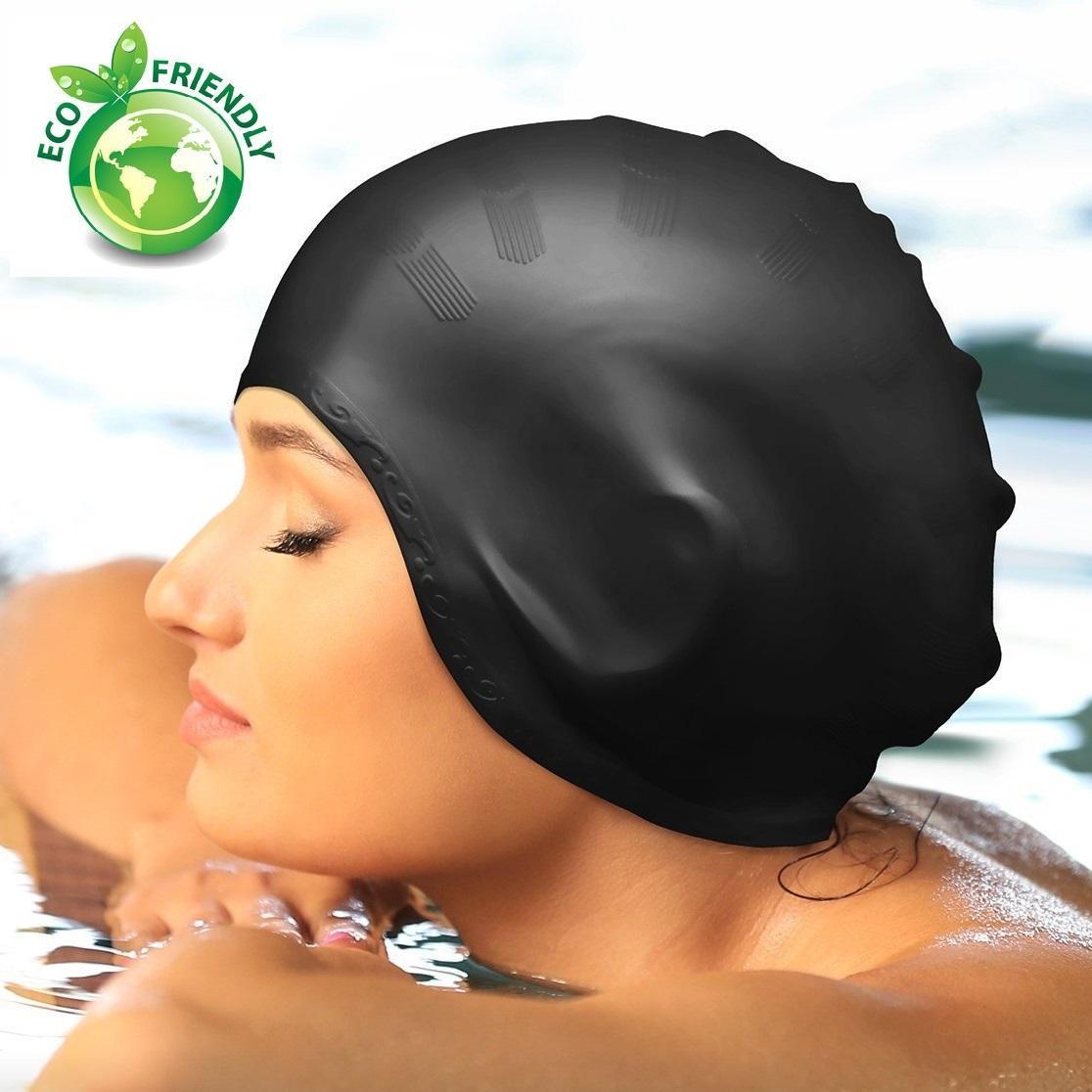 Nón bơi, Mũ bơi TRÙM TAI thời trang cao cấp + túi đựng chống nước