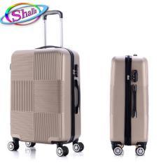 vali kéo nhựa cứng size 24 inch shalla Vali vuông caro (square) bảo hành 3 năm.