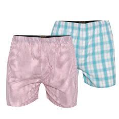 Combo 2 quần đùi mặc nhà cvring qd023 (hồng, xanh)