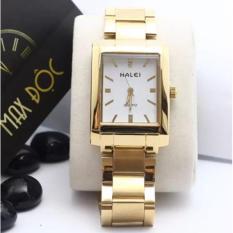 Đồng hồ nữ Halei mặt chữ nhật màu trắng cực đẹp