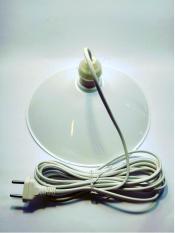 chao đèn hình đĩa 25cm + dây dài 3 mét (bộ 1 sản phẩm)