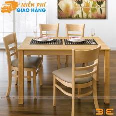 Bộ bàn ăn Ulsan màu tự nhiên 4 ghế