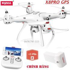 [Bộ 02 Pin] Flycam SYMA X8PRO Hiện Đại, Tích Hợp GPS, Camera 720P FPV Chỉnh Góc 90 Độ, Truyền Hình Ảnh Trực Tiếp Về Điện Thoại