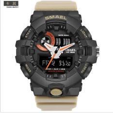 Đồng hồ thể thao nam -SMAEL1642 đen dây xám- H004