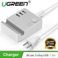 Bộ Sạc 3 cổng USB 20W max có giá đỡ điện thoại, máy tính bảng UGREEN CD101 20361 – Hãng phân phối chính thức
