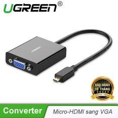 Bộ chuyển đổi Micro HDMI sang VGA hỗ trợ 1920*1080P màu đen UGREEN MM111 (40268) – Hãng phân phối chính thức