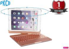 Bàn phím Bluetooth kiêm ốp lưng F180 cho iPad new 2017 xoay 180 độ hỗ trợ đèn LED 7 màu – PKCB