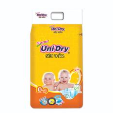 Combo 4 gói Tã dán Unidry siêu thấm size S46 (cho bé 3-7kg)