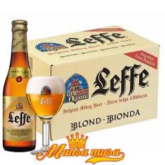 Bia Bỉ Leffe Blonde 6,6% chai 330ml – Thùng 24 chai