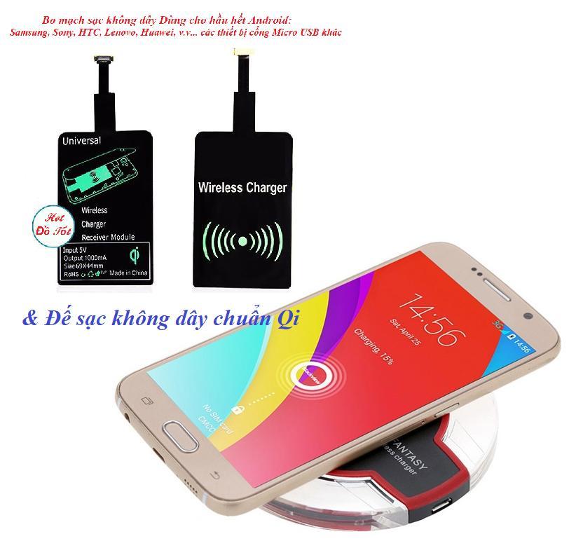 sạc không dây qua nfc – Sạc không dây fantasy.vPro HOT1740 Chuẩn Qi + Tặng Bo mạch sạc Chân Micro USB cho Android – BH 1 đổi 1 Uy tín -sac ko day